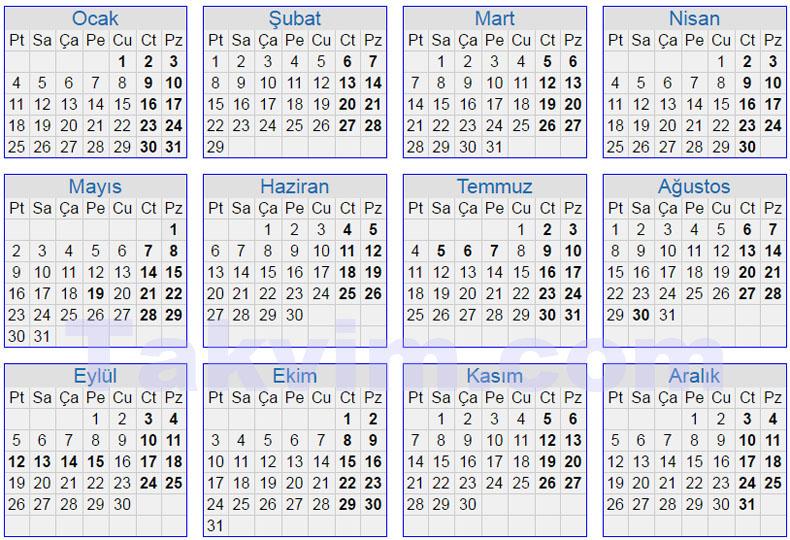 Mayıs ayındaki hafta sonları ve resmi tatiller